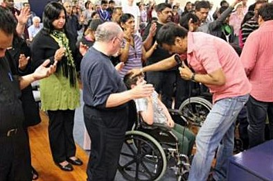 Eva. Ram Babu Praying for Josiah O'Brien; dad praying too.