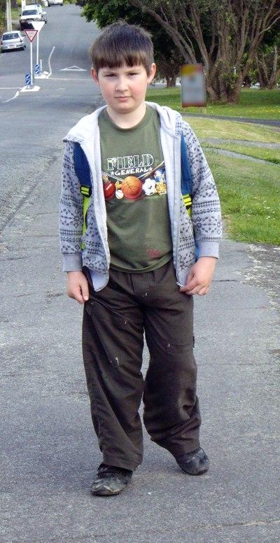 Josiah walks to school, 22 Nov. 8 45 am