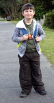 Josiah walks to school, 22 Nov.